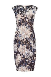 Botanical Trip Lace Pencil Dress