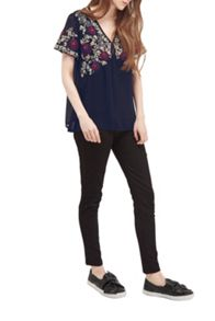 French Connection Mara Bloom Floral Embroidered Top