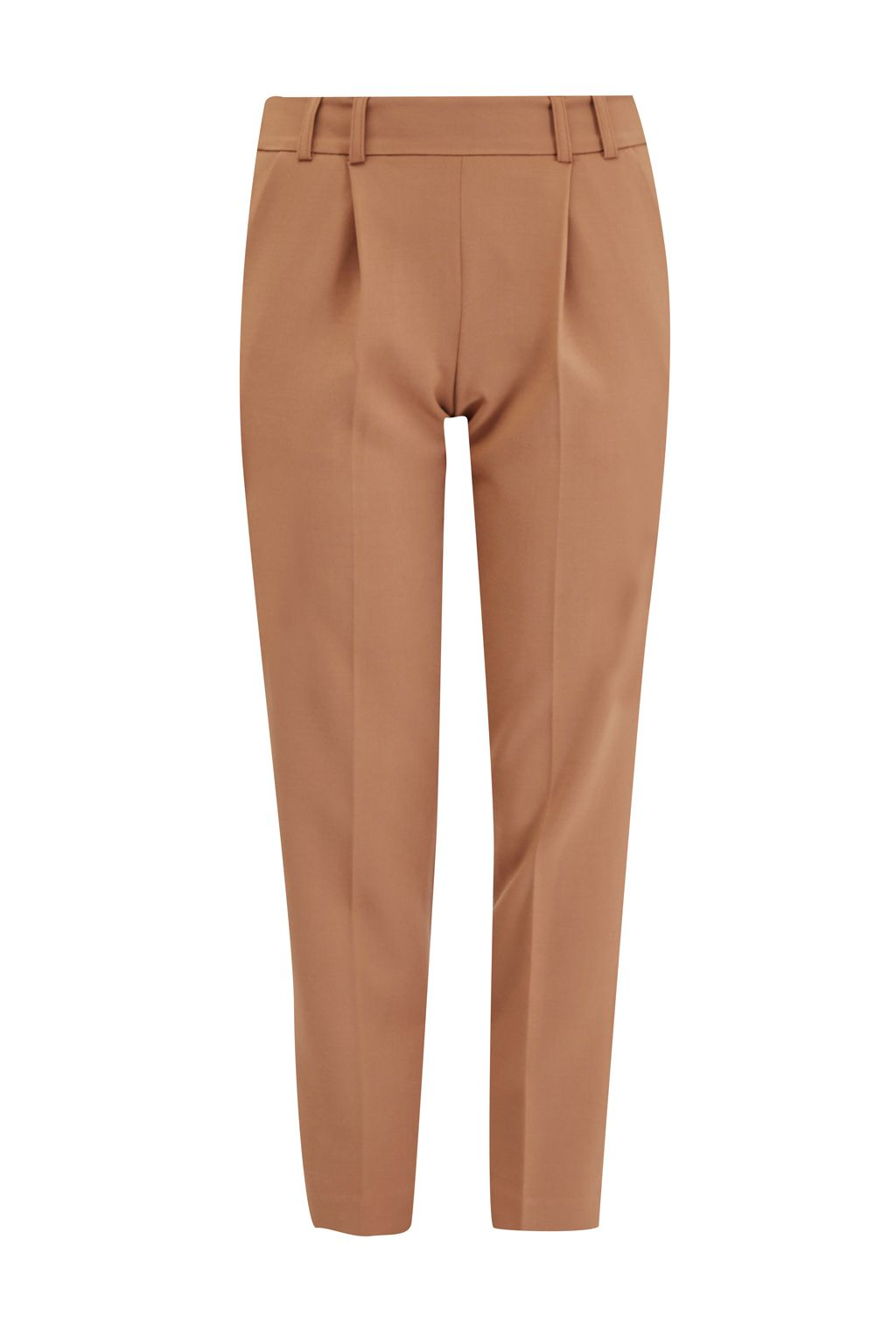French Connection Whisper Light Cropped Peg Trousers, Brown