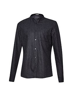 Pin stripe brosnan flannel shirt
