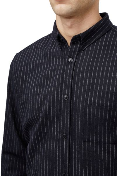 French Connection Pin stripe brosnan flannel shirt