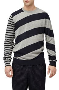 French Connection Diagonal stripe jumper