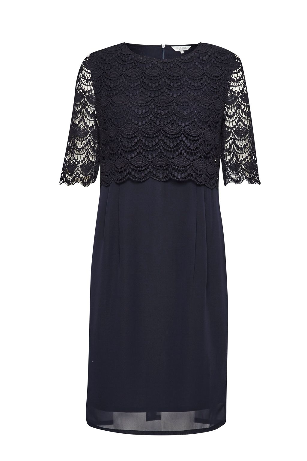 Great Plains Sicily Lace Wing Back Dress, Blue