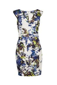 French Connection Kiki Palm Printed Bodycon Dress