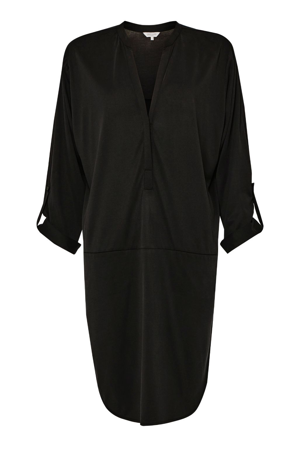 Great Plains Coolio Cupro Smock Dress, Black