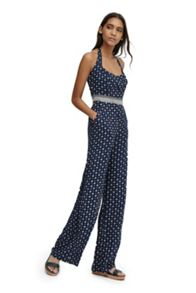 French Connection Castaway Drape Halter Neck Jumpsuit