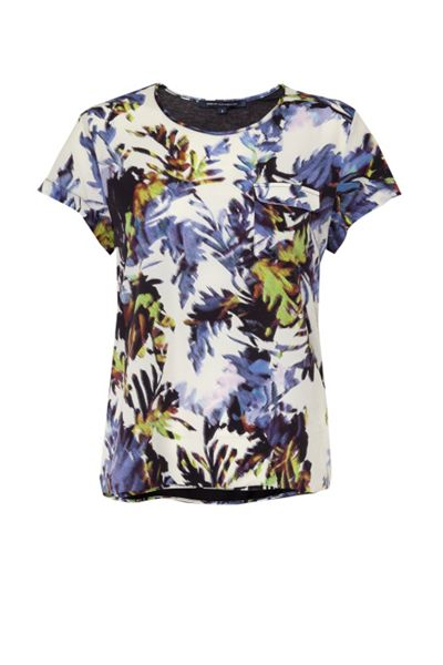 French Connection Kiki Palm Printed Pocket T-Shirt