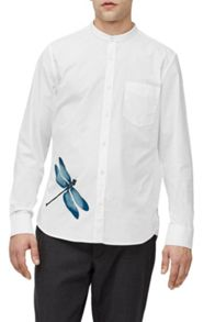 French Connection Dragonfly cotton brosnan shirt