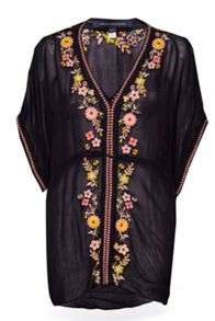 French Connection Sunshine Bloom Embroidered Top