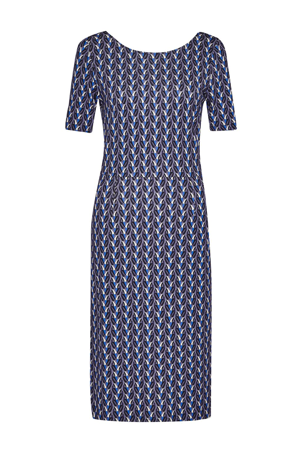 Great Plains Seville Stretch Knee Skimming Dress, Blue