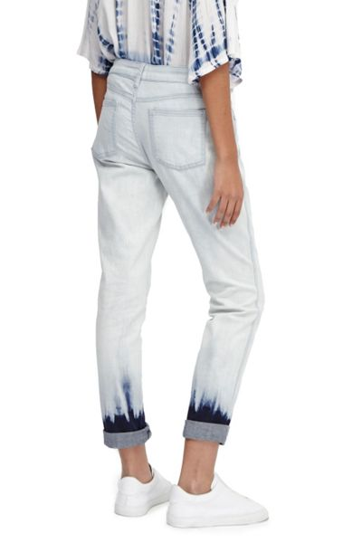 French Connection Tie Dye Hem Denim Jeans