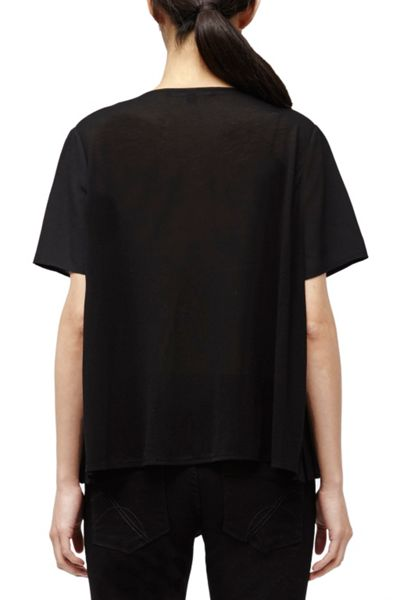 French Connection Polly Pleats Boxy Top