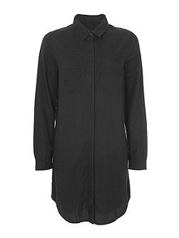 Pistols Cotton Oversized Shirt Dress