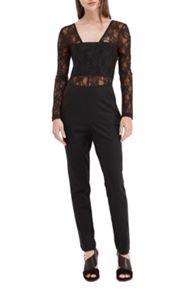 French Connection Lace Diana Jersey Jumpsuit