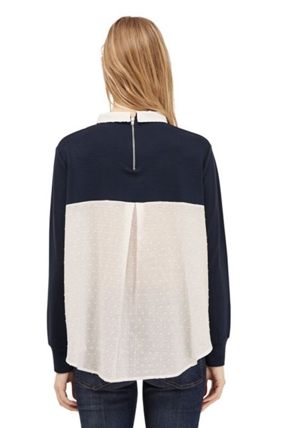 French Connection Dotty Mix 2 In 1 Jersey Jumper