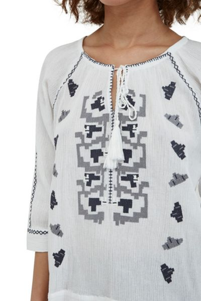 Great Plains Durban Embroidered Tunic Top