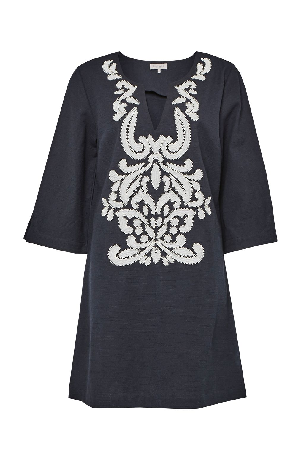 Great Plains Mozambique Broderie Dress, Blue