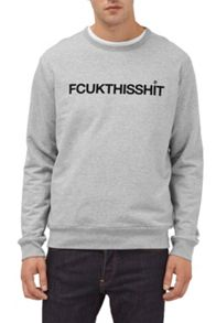 French Connection Fcuk This Shit Slogan Sweatshirt