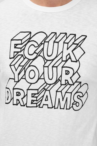 French Connection Fcuk Your Dreams Slogan T-Shirt