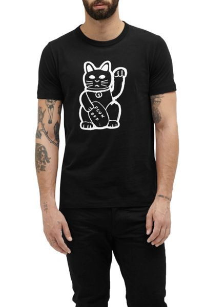 French Connection Fortune Cat Graphic T-Shirt