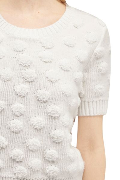 French Connection Loopy Polka Textured Jumper