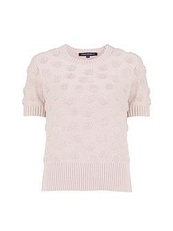 Loopy Polka Textured Jumper