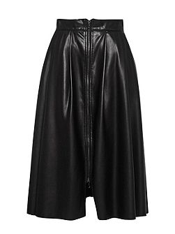 Seattle Faux Leather Zip Skirt