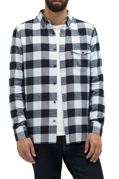 French Connection Pop Flannel Plaid Shirt
