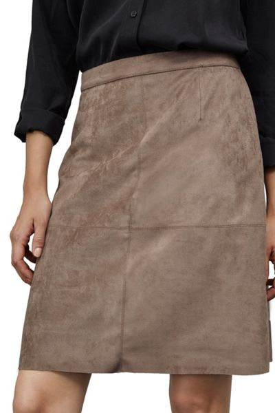 Great Plains Easily Swaid Faux Suede Skirt