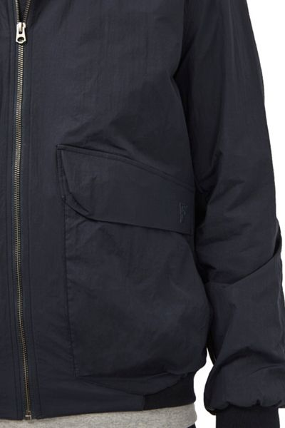 French Connection Hornfell Wax Zip Up Jacket