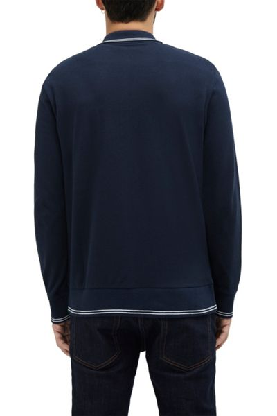 French Connection Piston Long Sleeve Polo Shirt