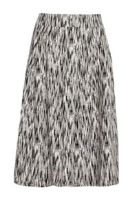 French Connection White Noise Pleated Full Skirt