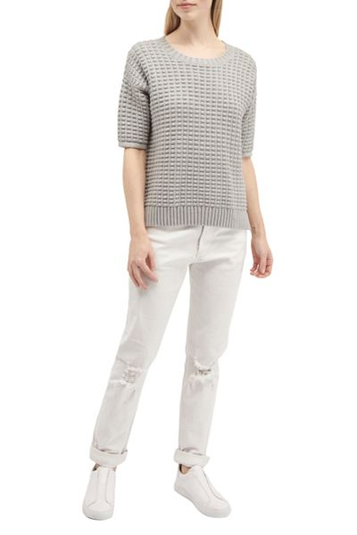 French Connection Popcorn Stitch Short Sleeved Knit