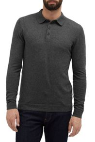 French Connection Autumn Portrait Long Sleeve Polo Shirt