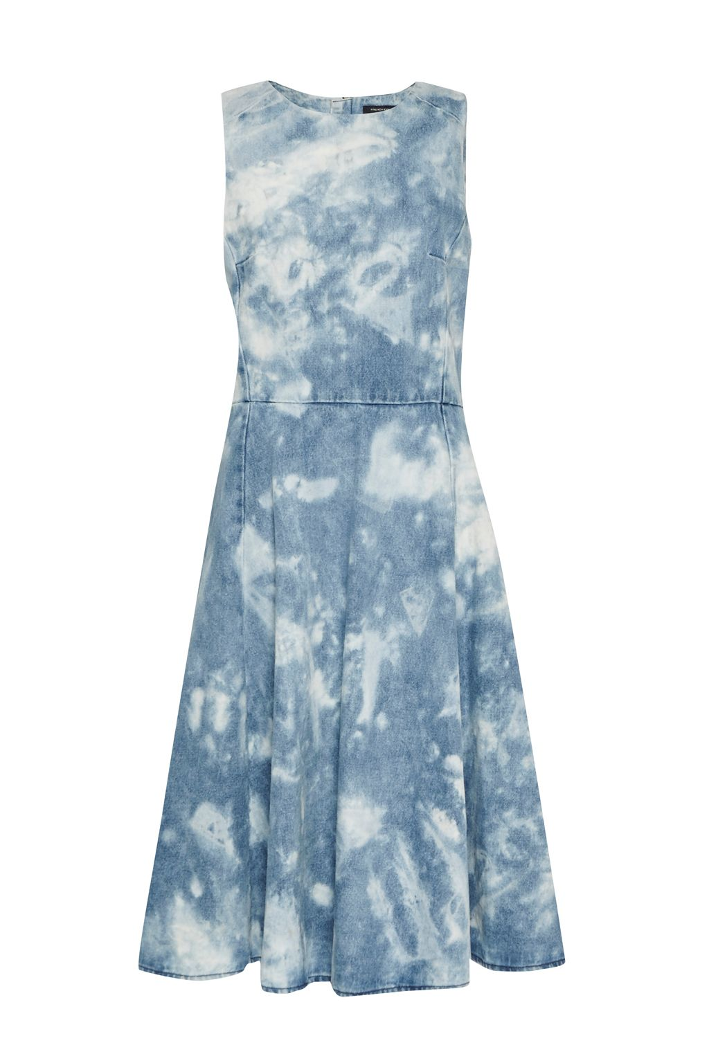 French Connection Indigo Marble Denim Dress, Blue