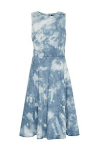 French Connection Indigo Marble Denim Dress