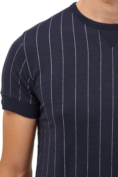 French Connection Skyray Stripe Contrast Detail T-Shirt