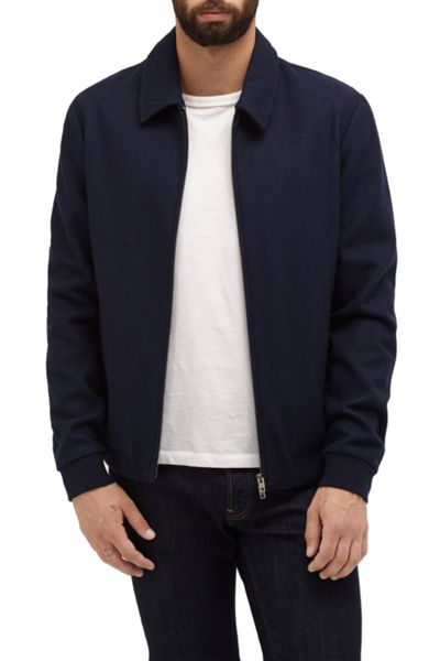 French Connection Winter Marine Melton Jacket