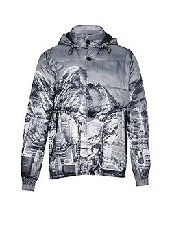 Moutain Pass Print Padded Jacket