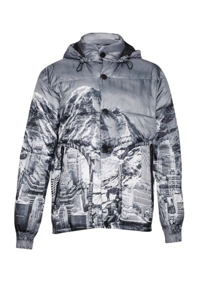 French Connection Moutain Pass Print Padded Jacket