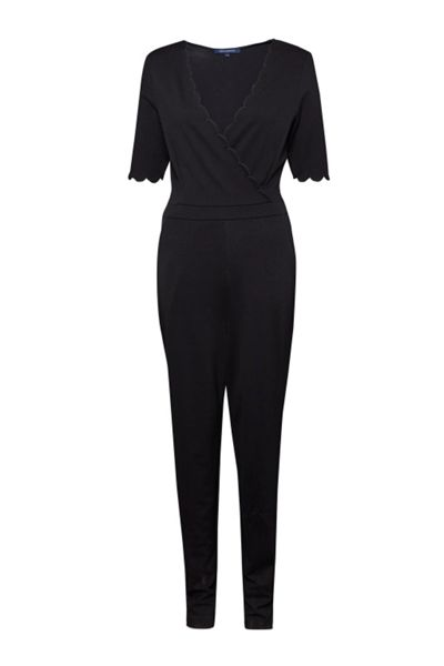 French Connection Beau Scallop Trim Jumpsuit
