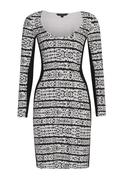 French Connection Mayan Stripe Bodycon Dress