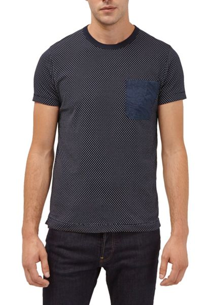French Connection Dunite Dot Chest Pocket T-Shirt