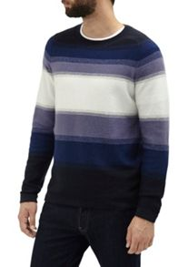 French Connection Fenite Stripe Ombre Knitted Jumper
