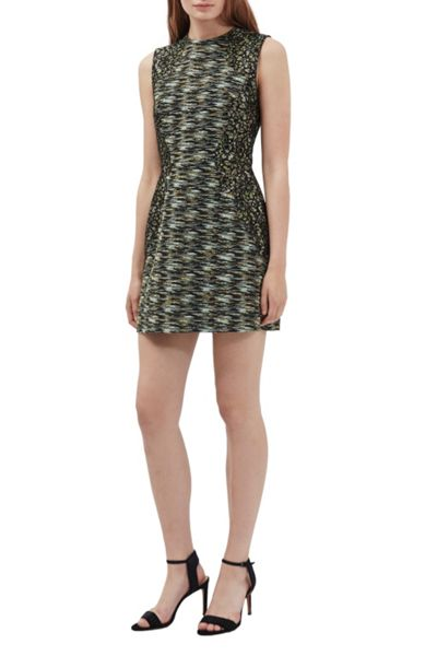 French Connection City Camo Sleeveless Mini Dress