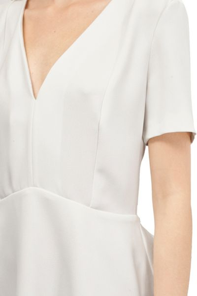 French Connection Arrow Crepe Peplum Top