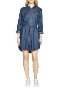 French Connection Denim Tencel Western Shirt Dress