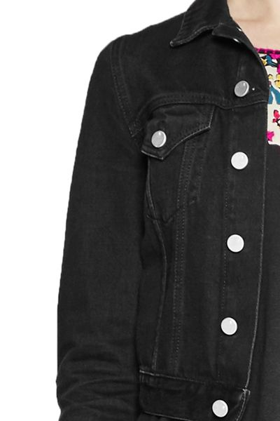 French Connection Micro Western Cropped Denim Jacket