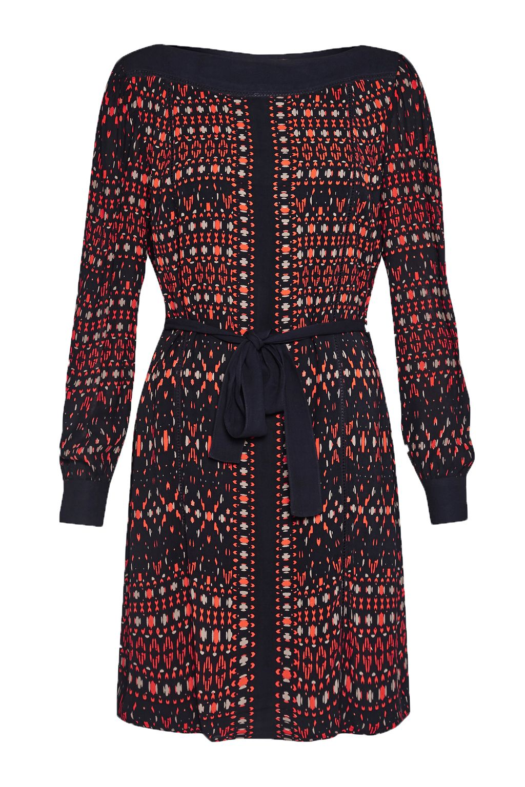 Great Plains Tarim Ladder Lace Detail Dress, Red