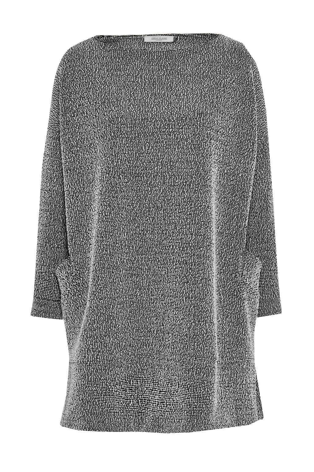 Great Plains Boulevard Boucle Tunic Top, Black